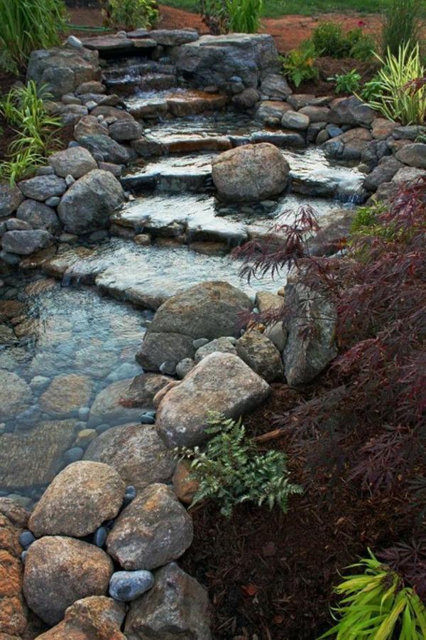 Designs jolis et spectaculaires de jardin aquatique for Cascade d eau jardin