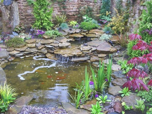 jardin aquatique, idées créatives pour lextérieur