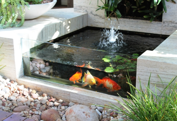 Designs jolis et spectaculaires de jardin aquatique for Petite fontaine exterieur