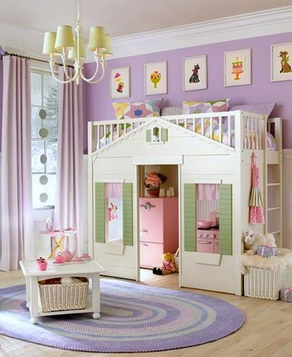 Le lit sur lev designs amusants - Chambre bebe fille originale ...