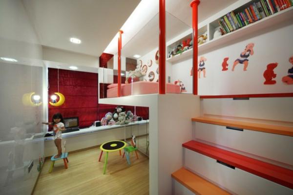 lit-surélevé-chambre-d'enfants-moderne