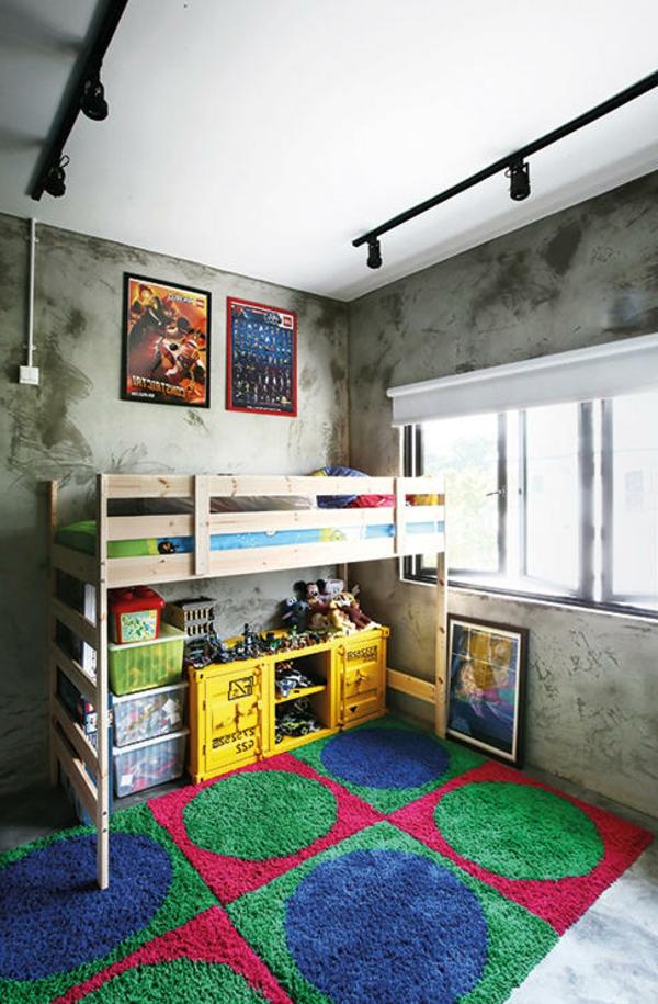 lit-surélevé-lit-loft-en-bois-intérieur-remarquable