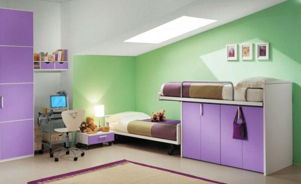lit-surélevé-petite-chambre-d'enfants-design-original