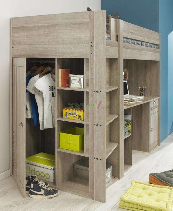 lit-surélevé-un-lit-loft-en-bois-chambre-d'enfant-originale