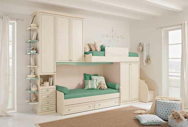 lits-superposés-avec-armoire-et-étagère