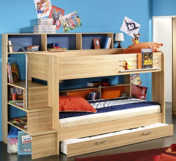 lits-superposés-bois-naturel-un-rangement-original