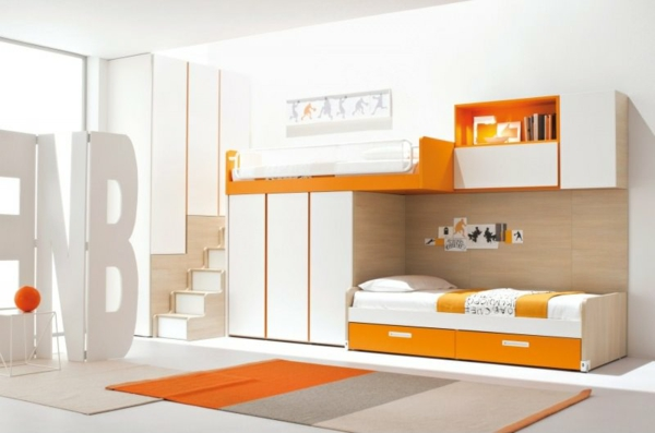 L 39 arrangement des lits superpos s dans la chambre d 39 enfant - Lit superpose moderne ...