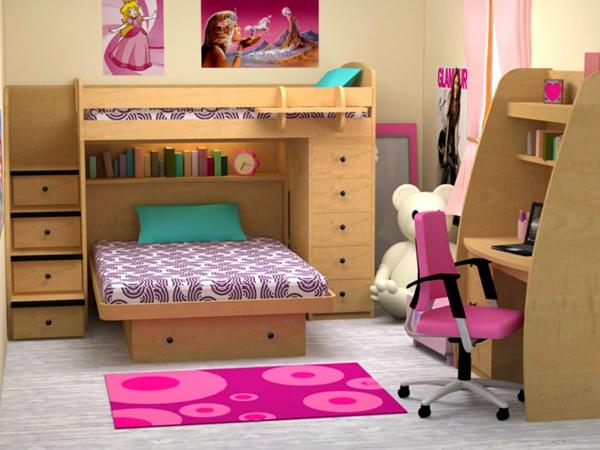 lits-superposés-chambre-à-coucher-pour-fille