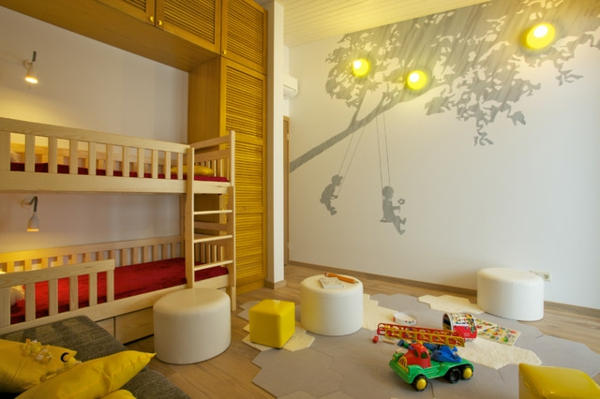 lits-superposés-chambre-d'enfant-unique