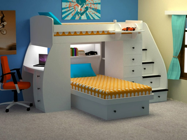 loft bed with desk. Black Bedroom Furniture Sets. Home Design Ideas