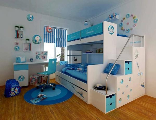 lits-superposés-design-en-bleu-et-blanc-intérieur-charmant