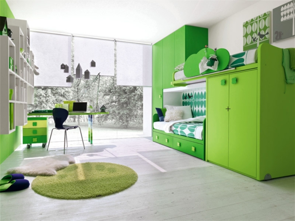 lits-superposés-design-vert-et-moderne