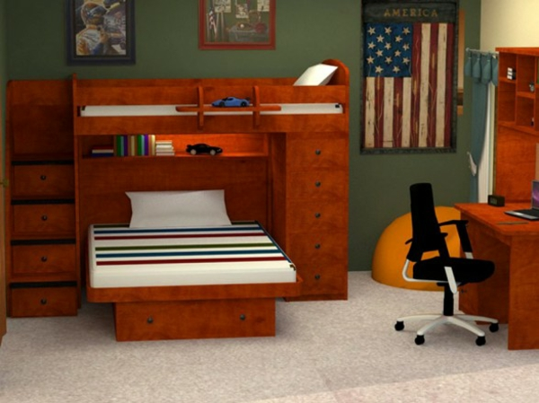 lits-superposés-en-bois-chambre-de-garçons