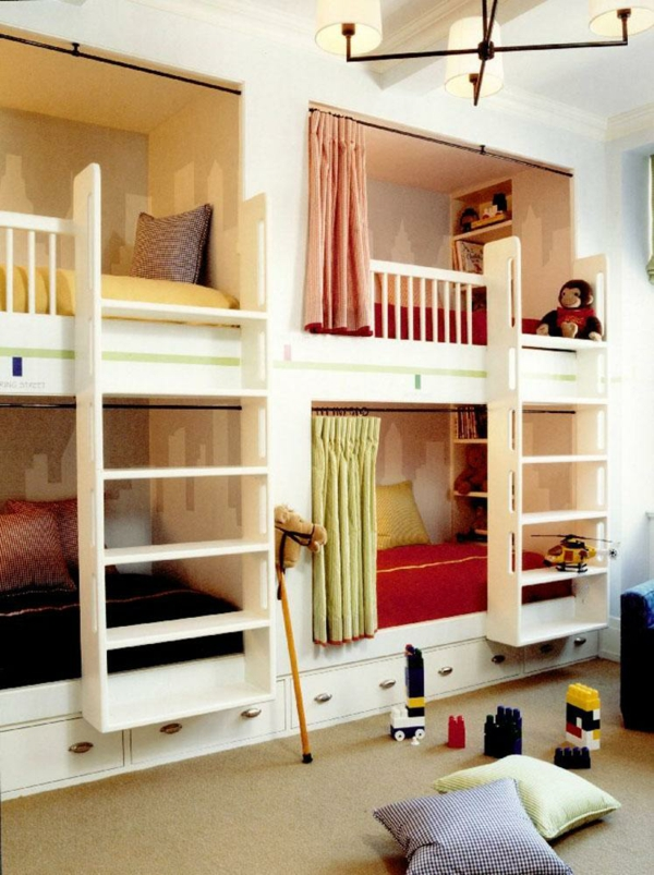 lits-superposés-lits-intégrés-deux-échelles
