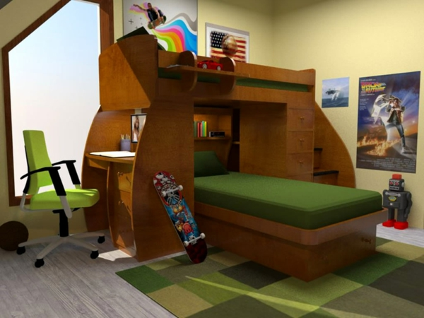 L 39 arrangement des lits superpos s dans la chambre d 39 enfant - Lit superpose garcon ...