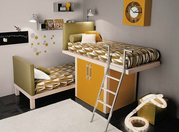 L 39 arrangement des lits superpos s dans la chambre d 39 enfant - Comment fabriquer un lit superpose ...