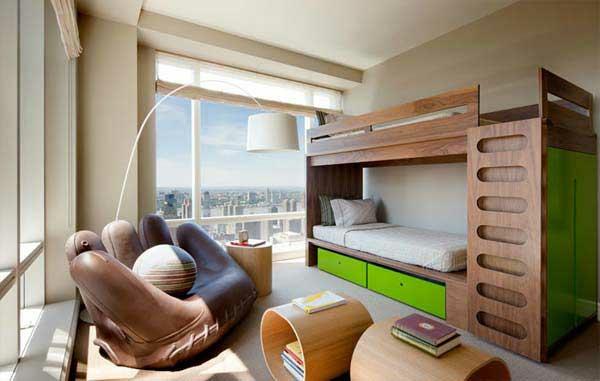 lits-superposés-un-fauteuil-main-et-deux-tables-avec-rangement