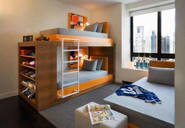 lits-superposés-un-loft-moderne-intérieur-minimaliste