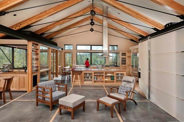 maison-passive-un-plan-ouvert-de-l'intérieur