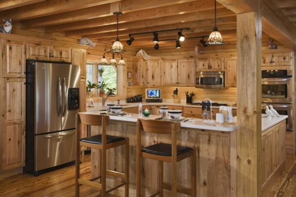 La menuiserie int rieure et les chalets du monde for Cuisine moderne en bois 2015