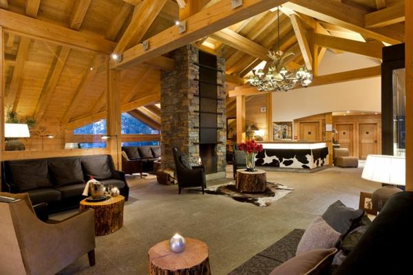 interieur maison bois pierre. Black Bedroom Furniture Sets. Home Design Ideas