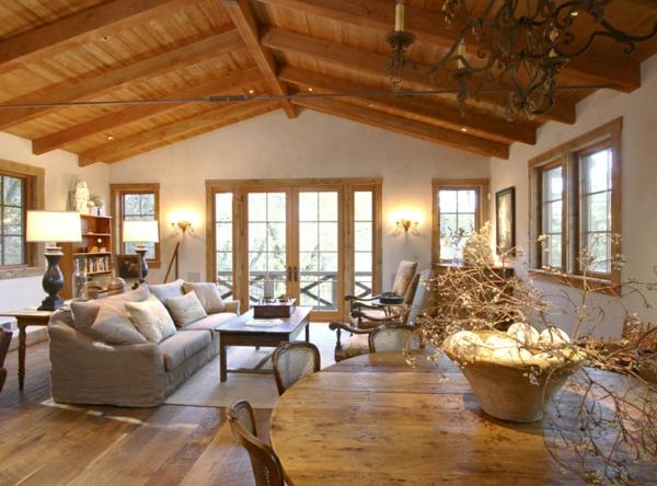 menuiserie-intérieure-plafond-en-bois-salon-joli