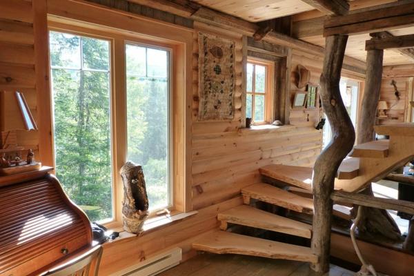 La menuiserie int rieure et les chalets du monde - Chalet en bois interieur ...