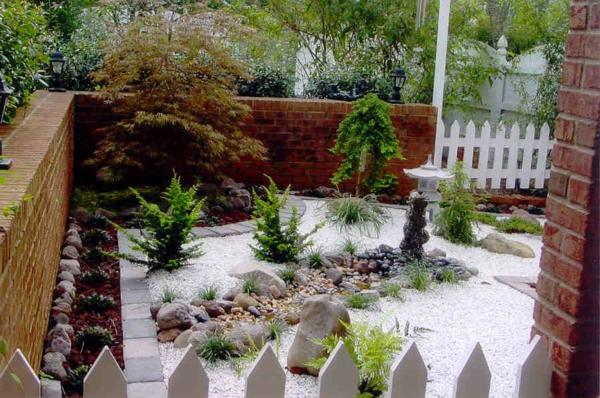 Le mini jardin japonais s r nit et style exotique Pierre blanche pour deco jardin