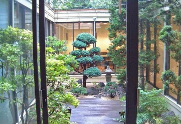 Le mini jardin japonais s r nit et style exotique for Couvrir une cour interieure