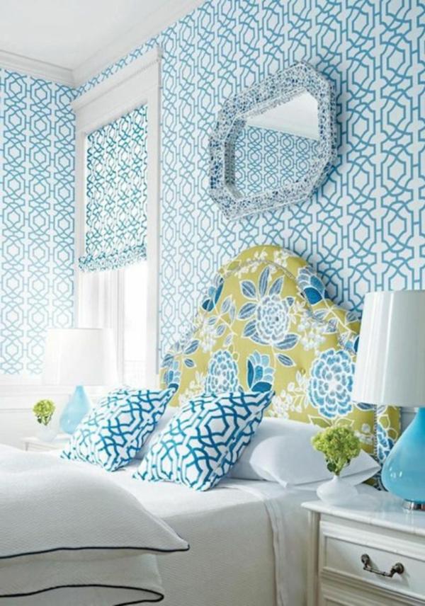 papier-peint-graphique-bleu-effet-hypnotisant