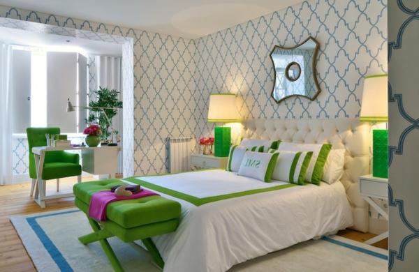 papier-peint-graphique-chambre-à-coucher-déco