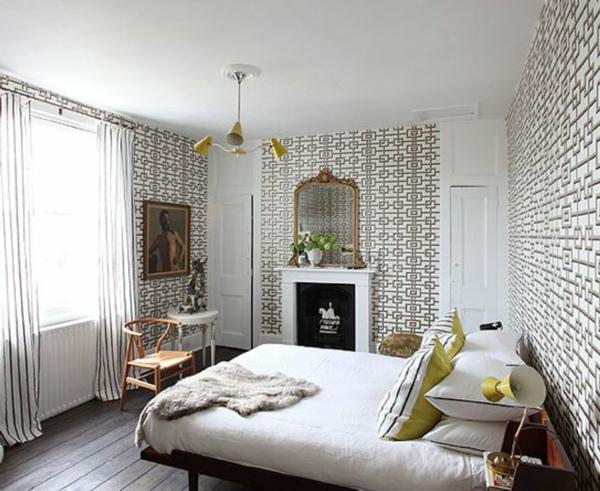 papier-peint-graphique-chambre-à-coucher-originale