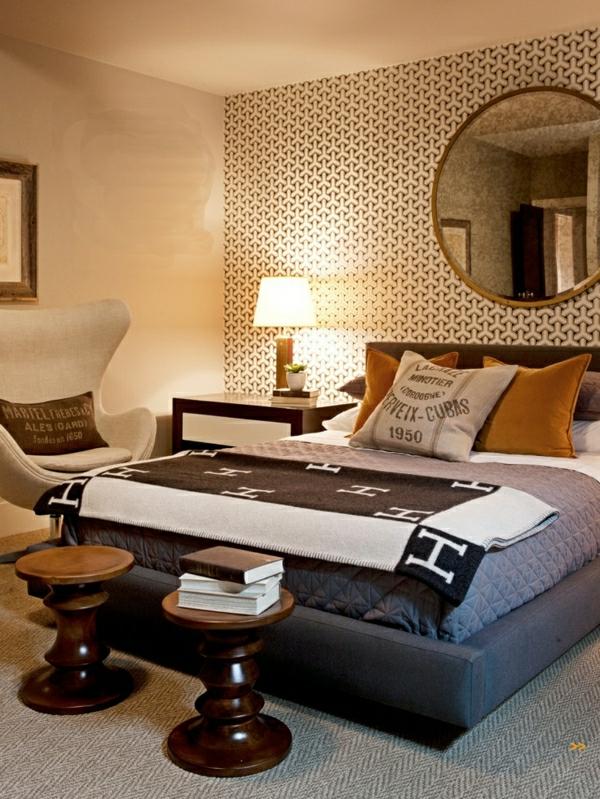 papier-peint-graphique-dans-une-chambre-à-coucher