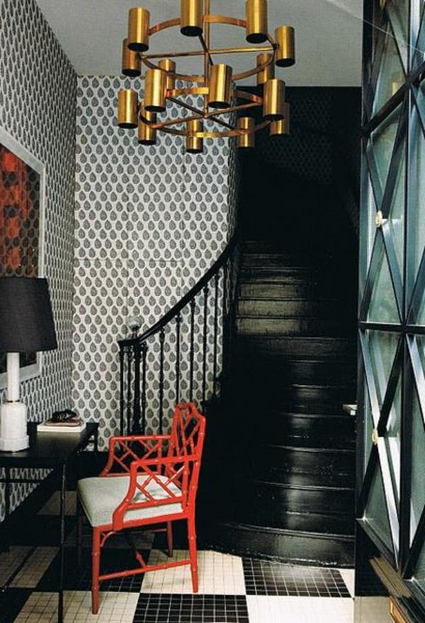 le papier peint graphique d coration unique pour l 39 int rieur. Black Bedroom Furniture Sets. Home Design Ideas