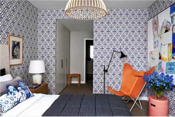papier-peint-graphique-fauteuil-orange