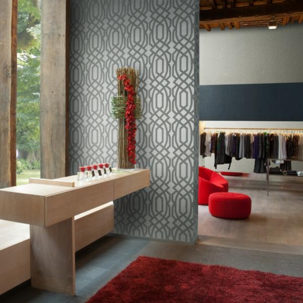 papier-peint-graphique-gris-un-tapis-rouge