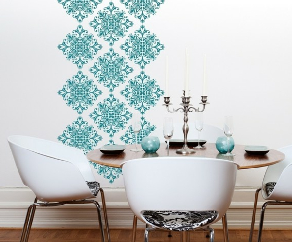 papier-peint-graphique-motifs-turquoises