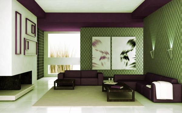 papier-peint-graphique-salle-de-séjour-artistique
