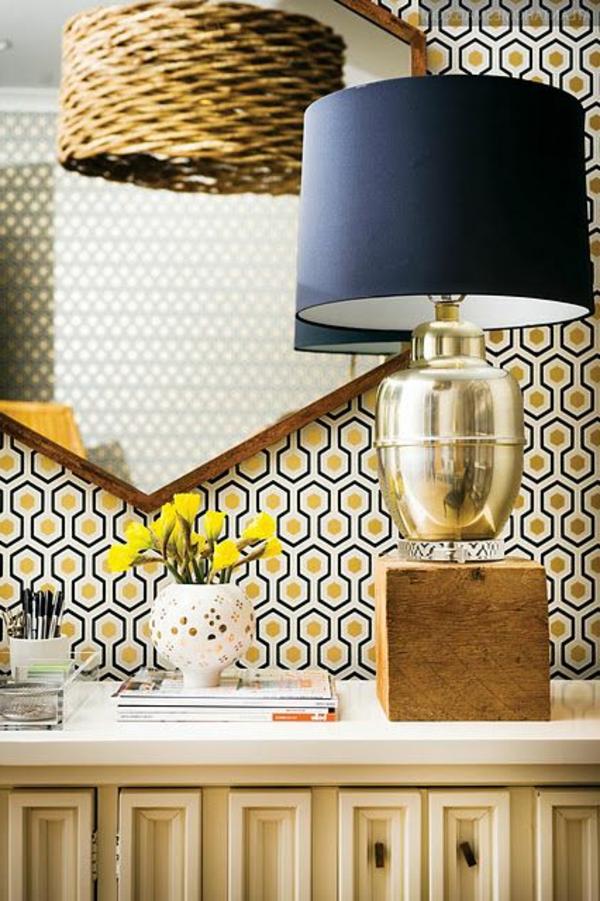papier-peint-graphique-un-miroir-hexagonal
