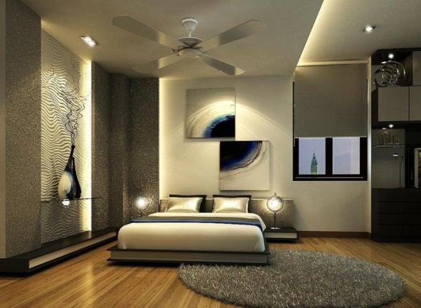 peinture-taupe-chambre-à-coucher-glamoureuse