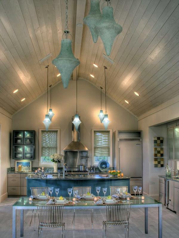 peinture-taupe-cuisine-unique-suspensions-bleues-originales