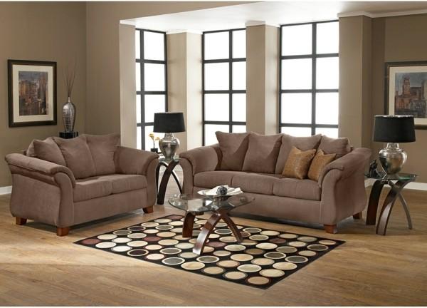 peinture-taupe-dans-une-salle-de-séjour-sofas-beiges