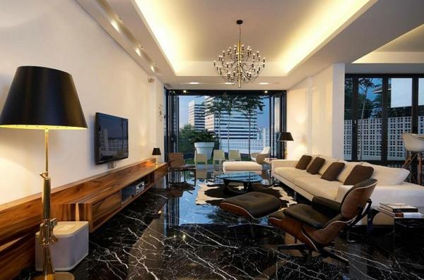 Salon En Marbre : La pierre naturelle pour l intérieur intérieurs cosy et