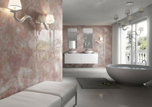 pierre naturelle pour lintrieur salle de bains - Salle De Bain Marbre Rose