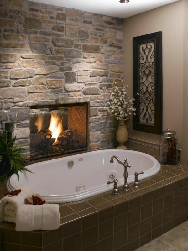La pierre naturelle pour l 39 int rieur int rieurs cosy et for Revetement murs salle de bain
