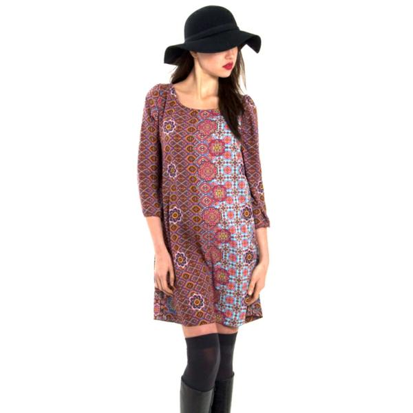 robe-trapèze-design-bariolé