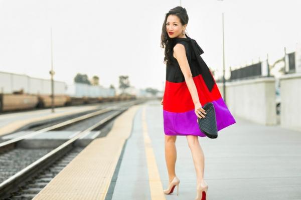 robe-trapèze-couleurs-vitaminées