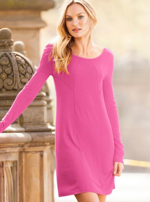 robe-trapèze-en-rose