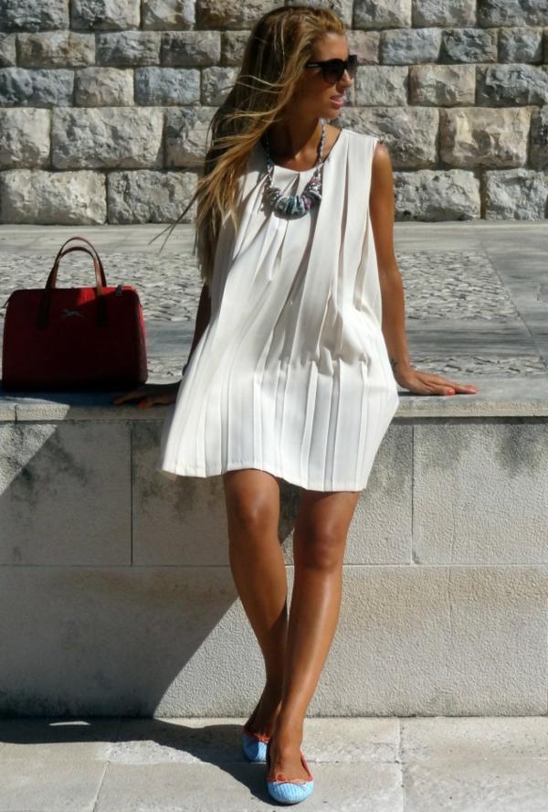 robe-trapèze-plissée