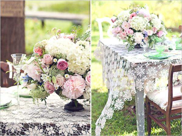 rustique-idée-de-deco-pour-mariage-champetre-avec-des-fleurs-avec-dentelles